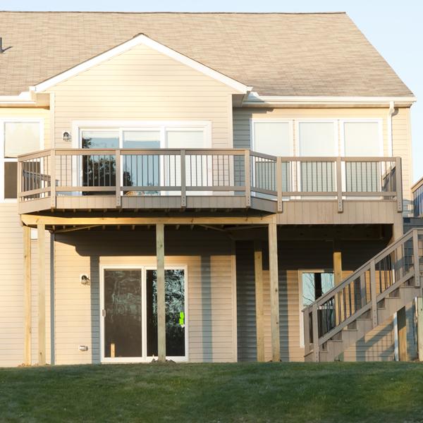 deck built on house in Colorado Springs