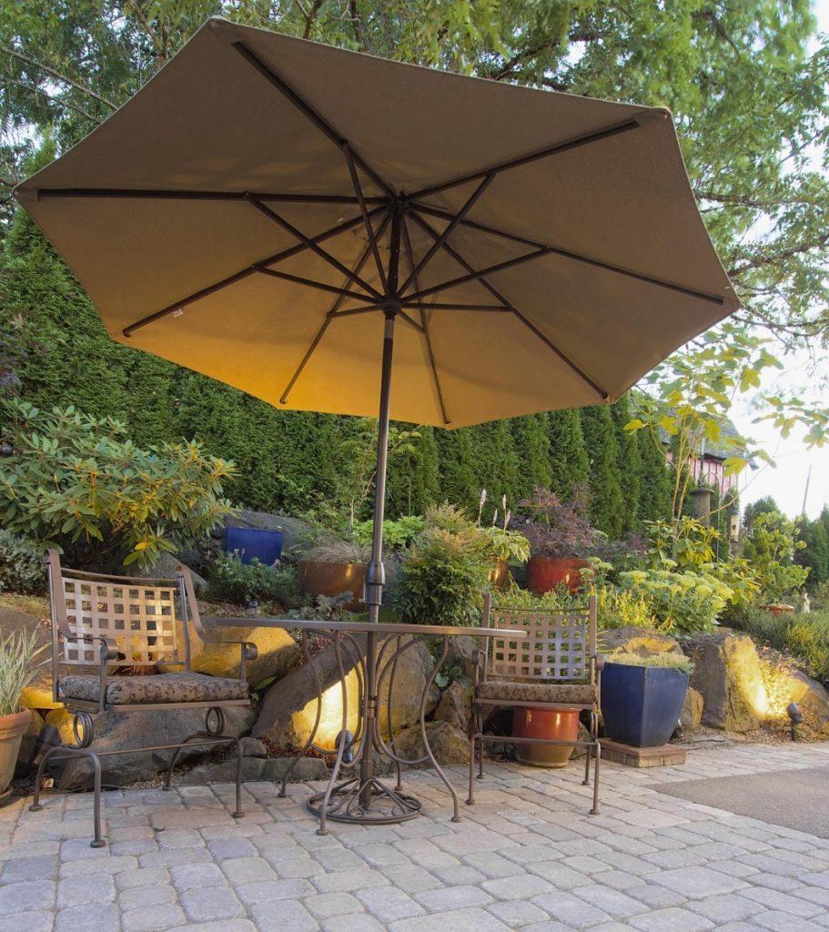 Outdoor Umbrella on Patio